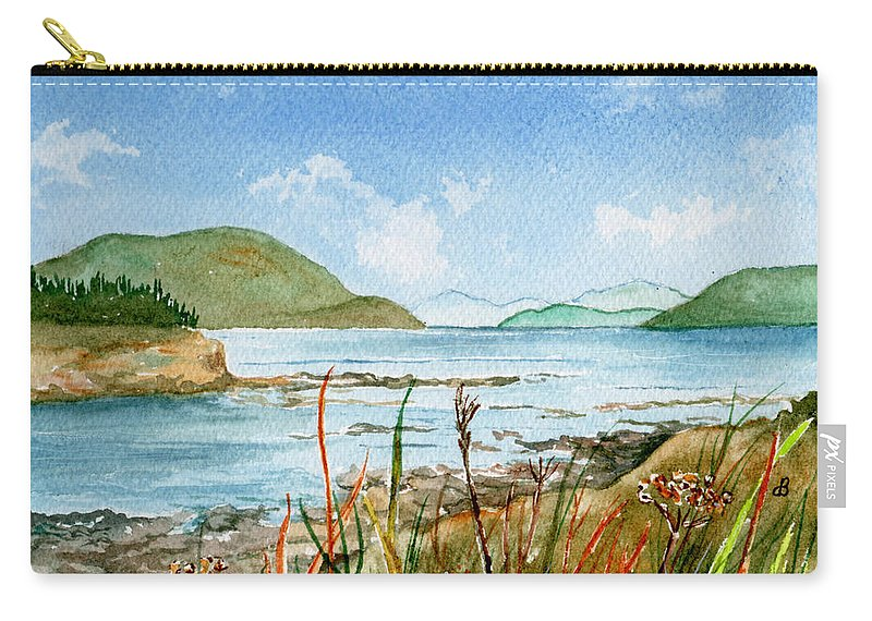 Landscape Carry-all Pouch featuring the painting By The Bay by Brenda Owen
