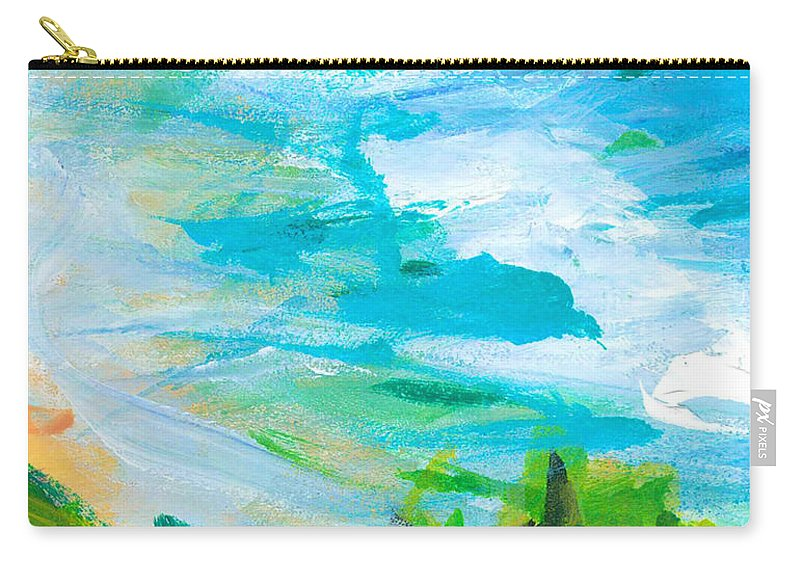 Abstract Carry-all Pouch featuring the painting By The Beach by Hanako Hawaii
