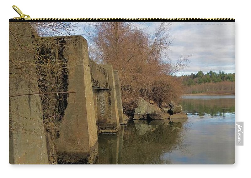 Bridge Carry-all Pouch featuring the photograph By The Bridge by MTBobbins Photography