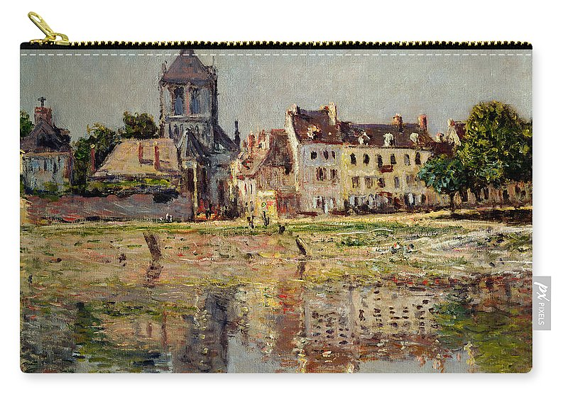 Monet Carry-all Pouch featuring the painting By The River At Vernon by Claude Monet