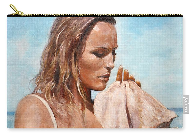 Seascape Carry-all Pouch featuring the painting By the Seaside by Darko Topalski