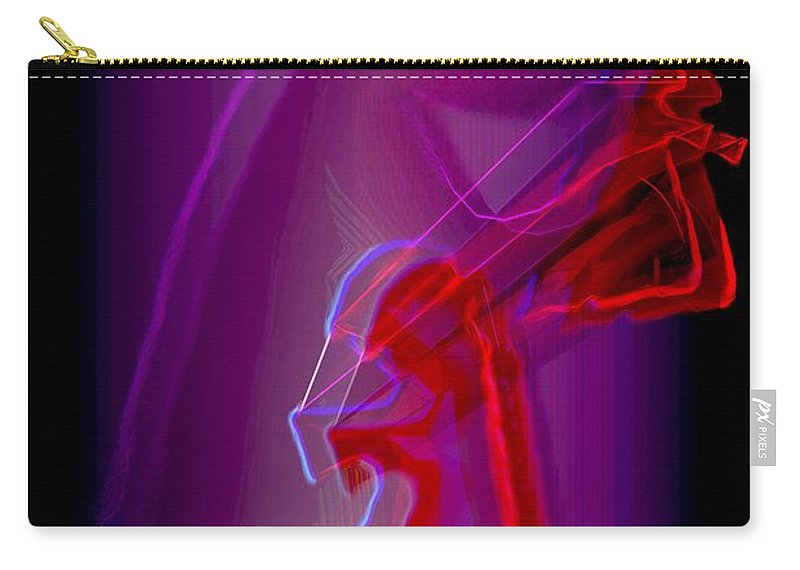 Farewell Carry-all Pouch featuring the digital art Bye by Helmut Rottler
