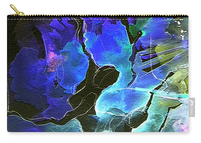 Miki Carry-all Pouch featuring the painting Bye by Miki De Goodaboom