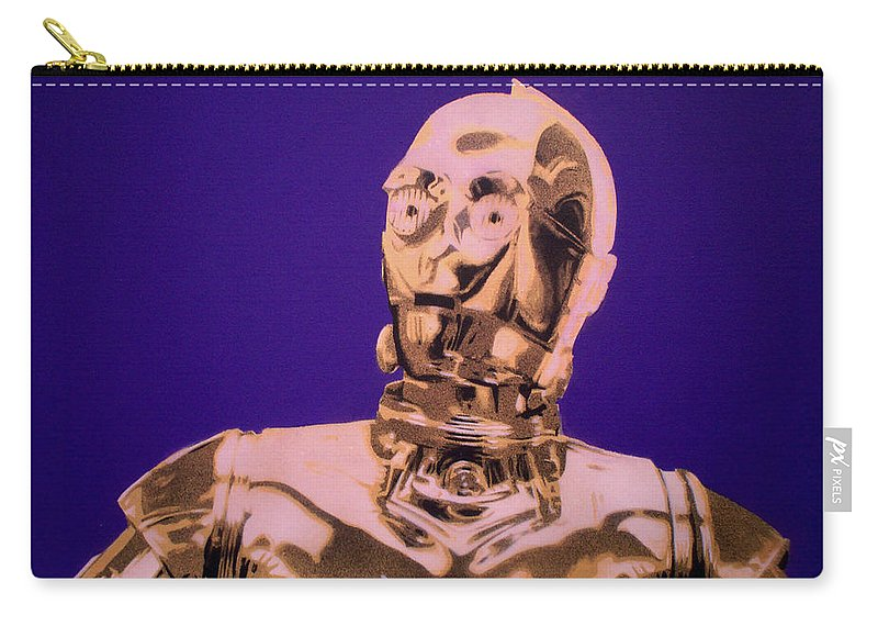 Star Wars Carry-all Pouch featuring the painting C3p0 by Gary Hogben