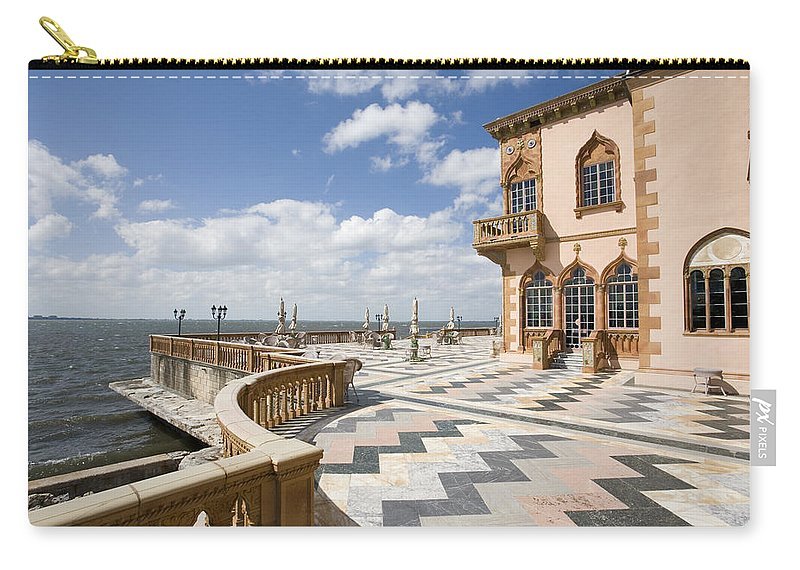 Ringling Carry-all Pouch featuring the photograph Ca D'zan Mansion Sarasota by Mal Bray