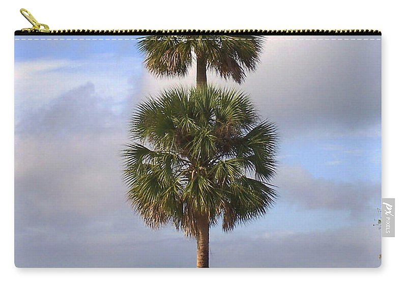 Nature Carry-all Pouch featuring the photograph Cabbage Palms by Peg Urban