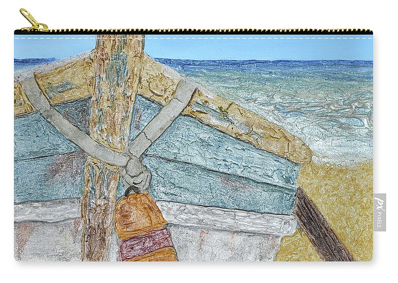 Cabbing Skiff Carry-all Pouch featuring the painting Cabbing Skiff by Christine Dekkers