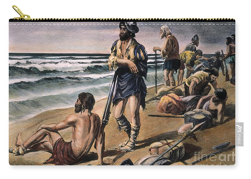 16th Century Carry-all Pouch featuring the photograph Cabeza De Vaca Expedition by Granger