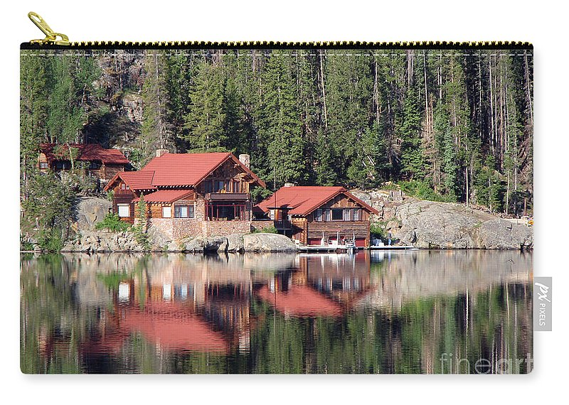 Cabin Carry-all Pouch featuring the photograph Cabin by Amanda Barcon