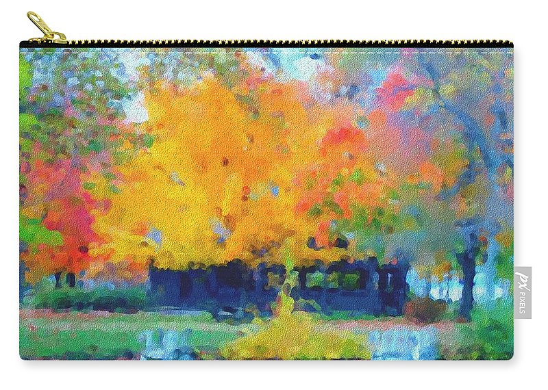Digital Photograph Carry-all Pouch featuring the photograph Cabin In The Park II by David Lane