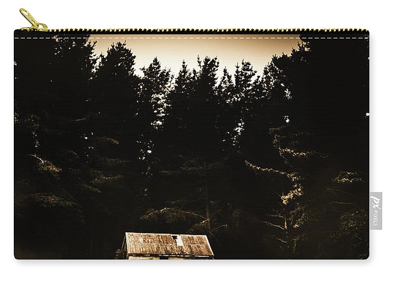 Woods Carry-all Pouch featuring the photograph Cabin In The Woodlands by Jorgo Photography - Wall Art Gallery