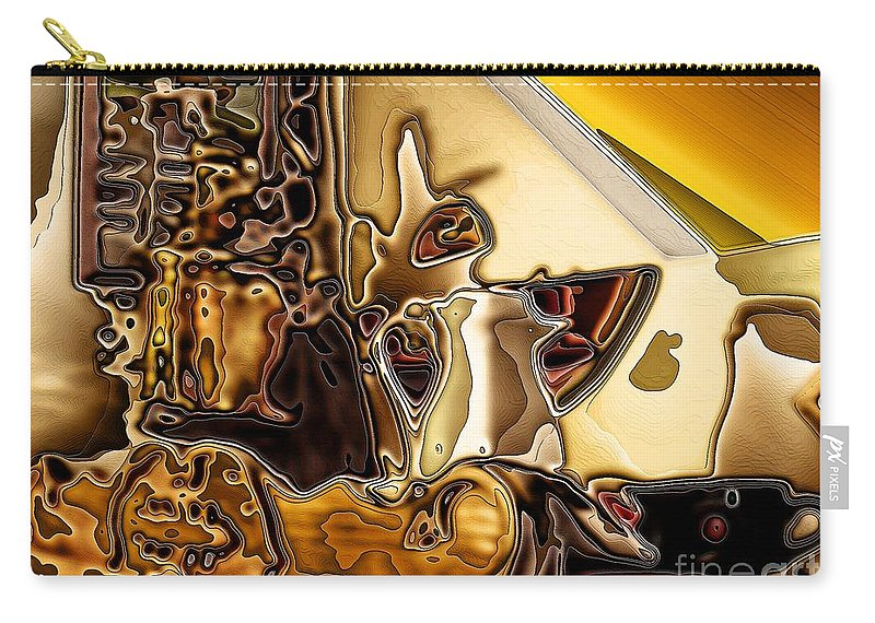 Cabinet Top Carry-all Pouch featuring the digital art Cabinet Top by Ron Bissett
