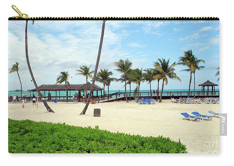Caribbean Carry-all Pouch featuring the photograph Cable Beach by Gary Wonning