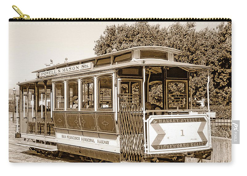 San Francisco Carry-all Pouch featuring the photograph Cable Car by Donna Blackhall