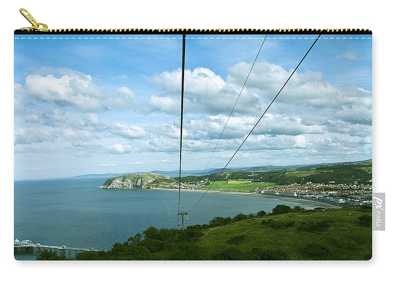 Aqua Carry-all Pouch featuring the photograph Cable Lift by Svetlana Sewell