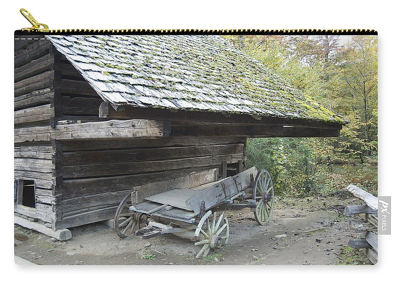 Cades Cove Carry-all Pouch featuring the photograph Cable Mill Barn by Michael Peychich