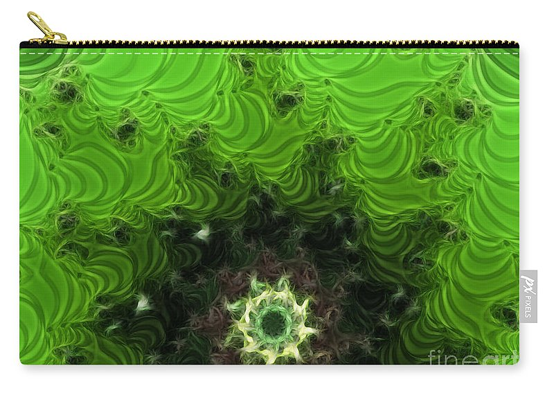 Cactus Abstract Carry-all Pouch featuring the digital art Cactus Abstract by Methune Hively