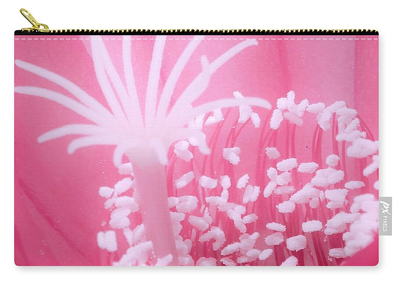Carry-all Pouch featuring the photograph Cactus Flower by James Burton