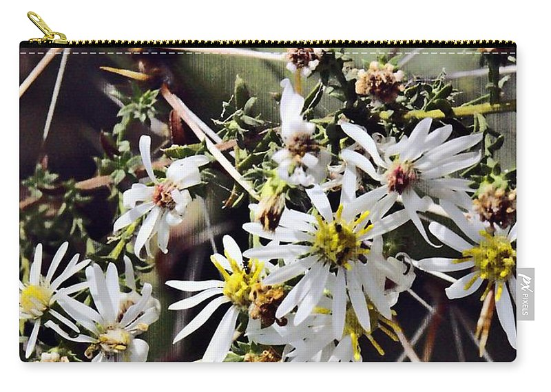 Cactus Carry-all Pouch featuring the photograph Cactus Flowers by Scott Wyatt