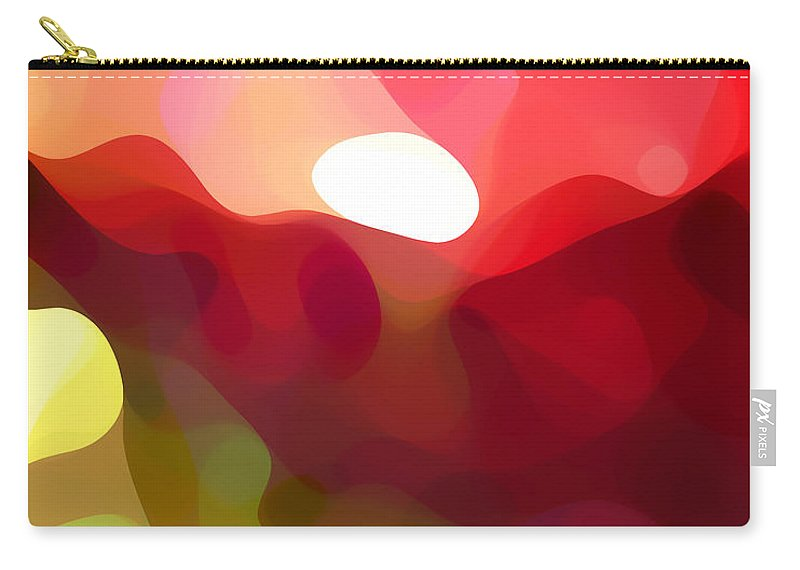 Abstract Art Carry-all Pouch featuring the painting Cactus Resting by Amy Vangsgard