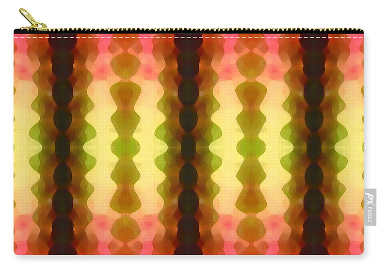 Abstract Painting Carry-all Pouch featuring the digital art Cactus Vibrations 1 by Amy Vangsgard
