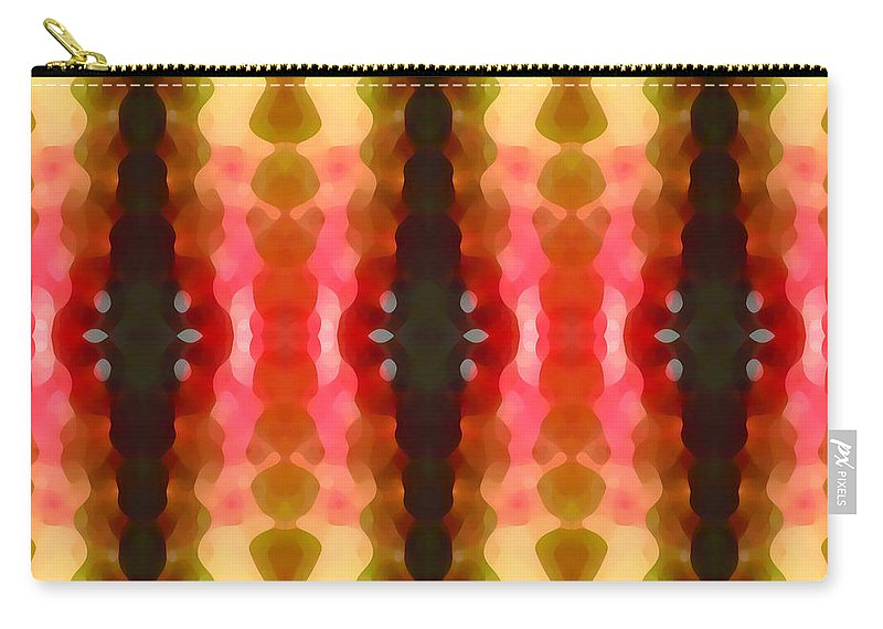Abstract Carry-all Pouch featuring the painting Cactus Vibrations 2 by Amy Vangsgard