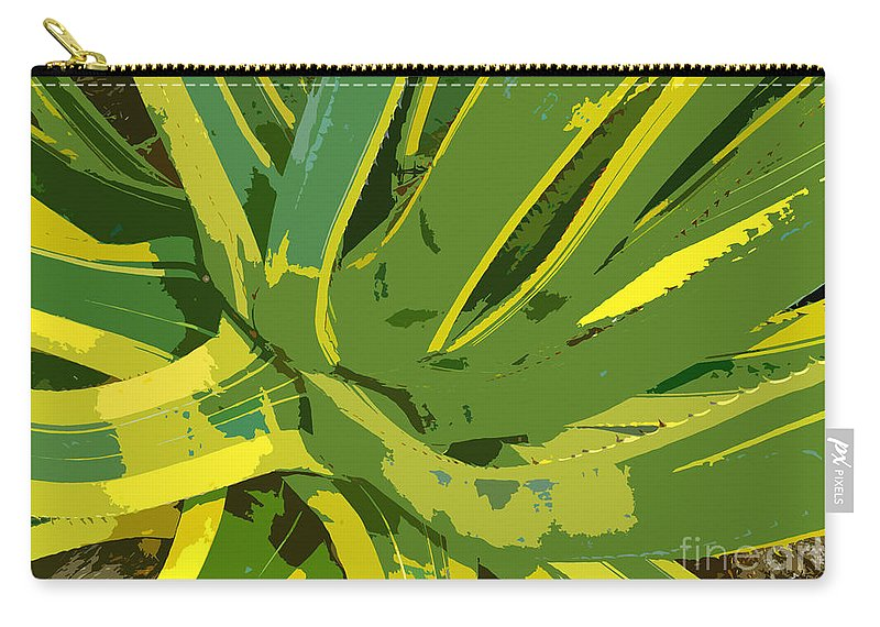 Cactus Carry-all Pouch featuring the photograph Cactus Work Number 2 by David Lee Thompson