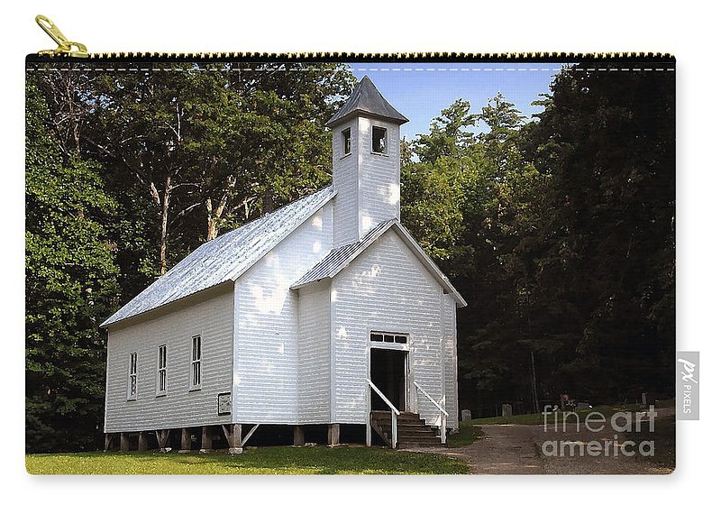 Baptist Carry-all Pouch featuring the photograph Cades Cove Baptist Church by David Lee Thompson