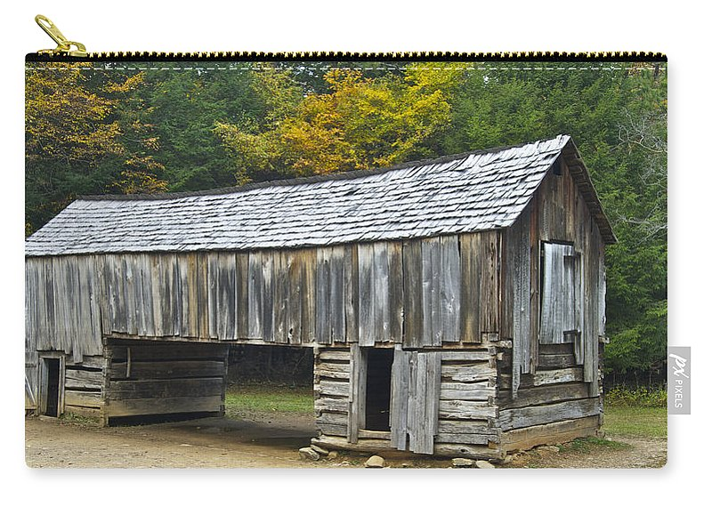 Cades Cove Carry-all Pouch featuring the photograph Cades Cove Barn by Michael Peychich