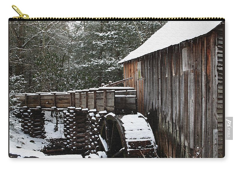 Smoky Mountains Carry-all Pouch featuring the photograph Cades Cove Mill II by Margie Wildblood