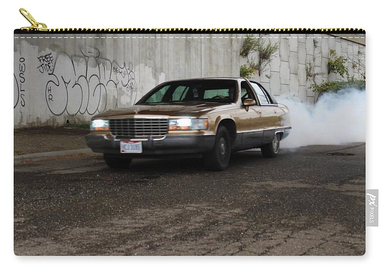Cars Carry-all Pouch featuring the photograph Cadillac by Anelisa Artist Photographer