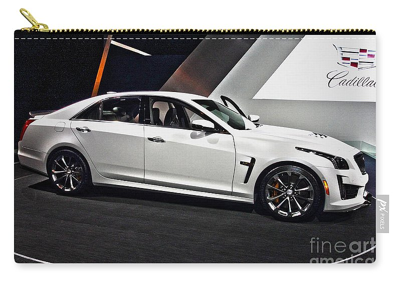 Auto Carry-all Pouch featuring the photograph Cadillac Cts-v by Alan Look