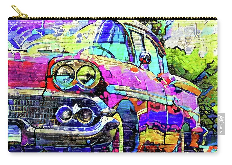 Cadillac Devil Carry-all Pouch featuring the digital art Cadillac Devil by ArtMarketJapan