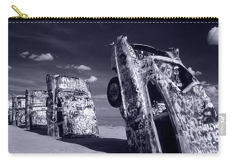 Cadillac Ranch Carry-all Pouch featuring the photograph Cadillac Ranch by Steve Williams