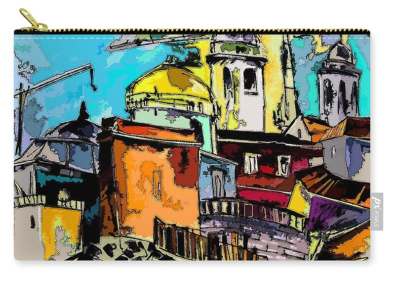 Spain Painting Cadiz Andalusia Carry-all Pouch featuring the painting Cadiz Spain 02 Bis by Miki De Goodaboom
