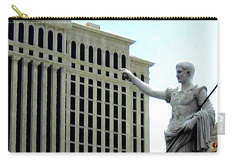 Caesars Palace Carry-all Pouch featuring the photograph Caesars Palace by Will Borden