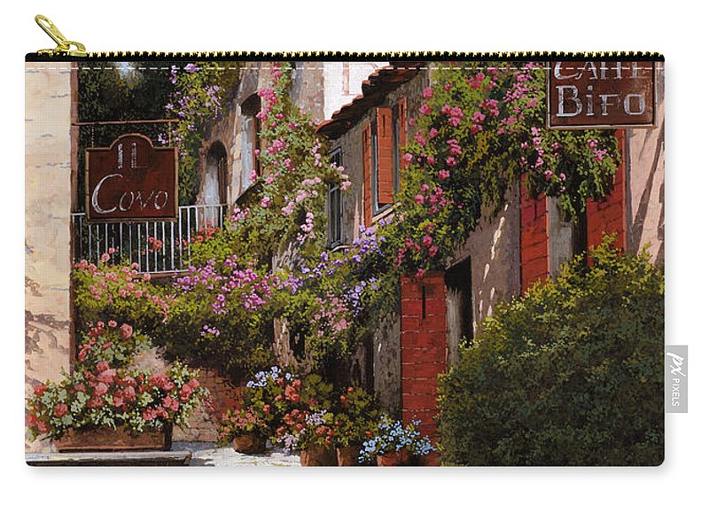 Cafe Carry-all Pouch featuring the painting Cafe Bifo by Guido Borelli