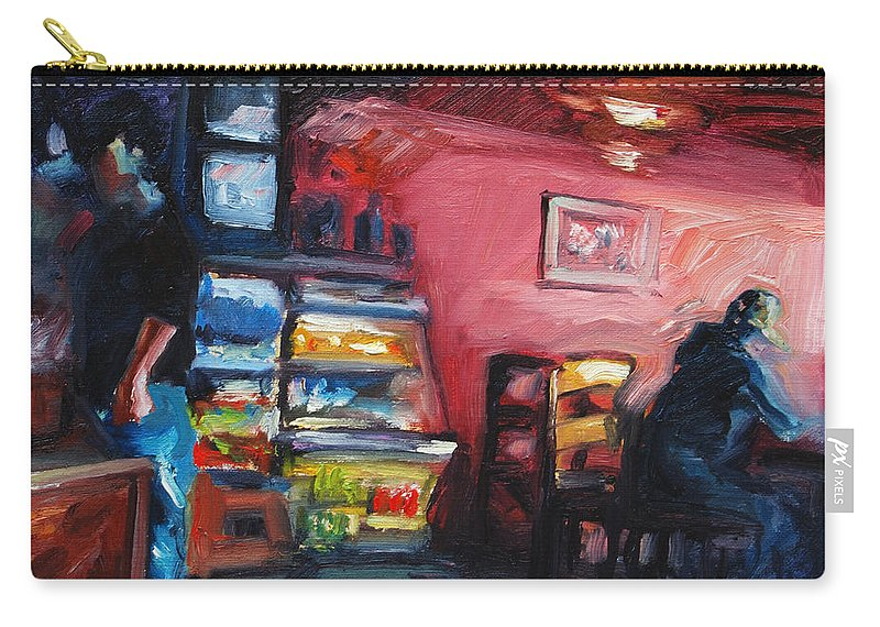 Cafe Carry-all Pouch featuring the painting Cafe Boulange by Rick Nederlof