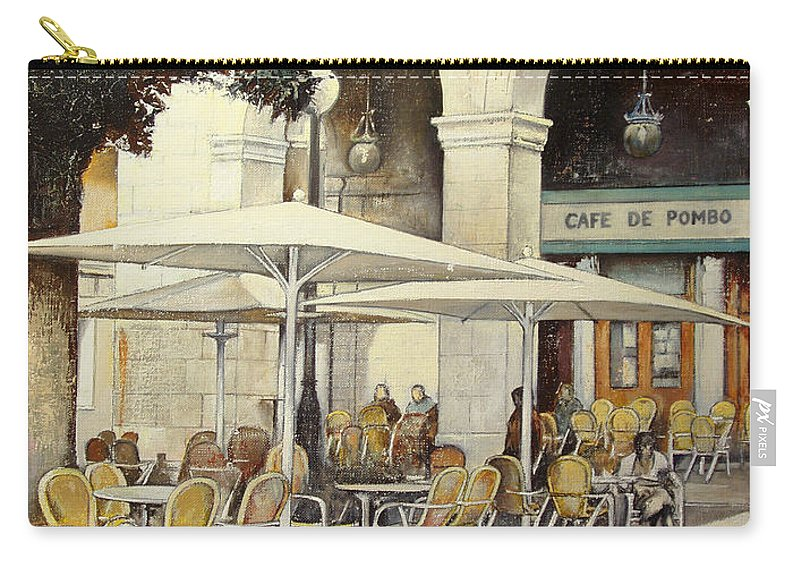 Cafe Carry-all Pouch featuring the painting Cafe de Pombo-Santander by Tomas Castano