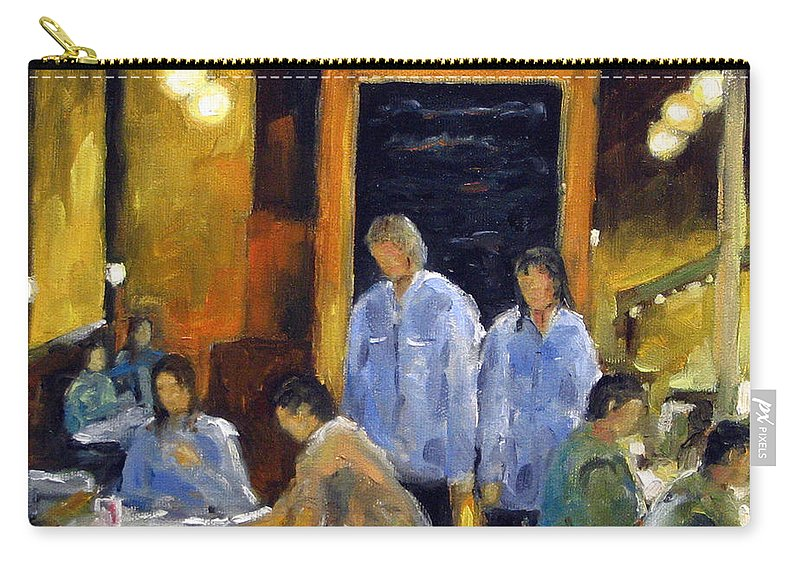Urban Carry-all Pouch featuring the painting Cafe Des Artistes by Richard T Pranke