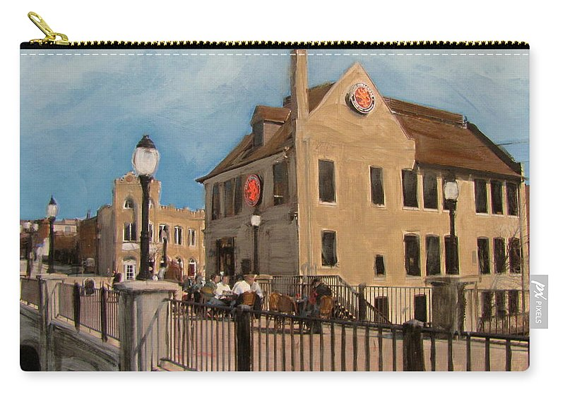 Milwaukee Carry-all Pouch featuring the mixed media Cafe Hollander 2 by Anita Burgermeister
