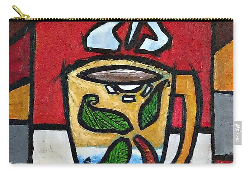 Cafe Carry-all Pouch featuring the painting Cafe Palmera by Oscar Ortiz