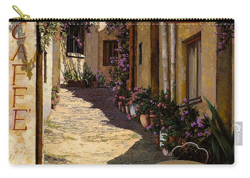 Caffe Carry-all Pouch featuring the painting Cafe Piccolo by Guido Borelli