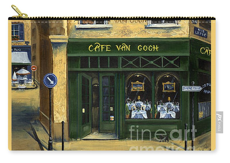 Europe Carry-all Pouch featuring the painting Cafe Van Gogh Paris by Marilyn Dunlap
