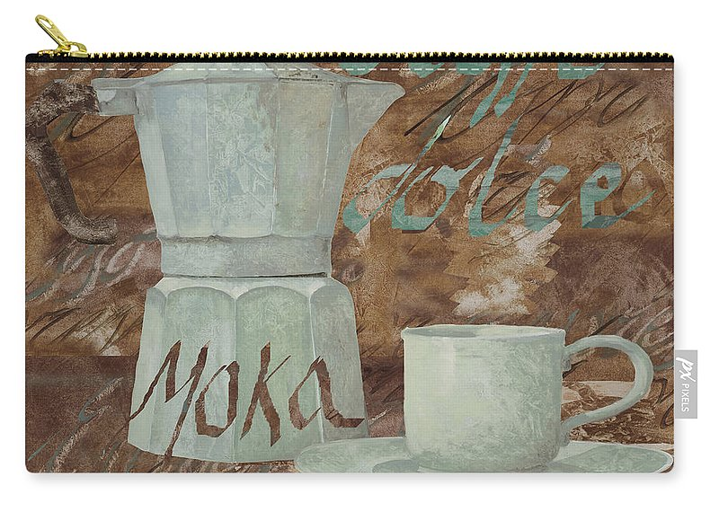 Caffe Carry-all Pouch featuring the painting Caffe Espresso by Guido Borelli