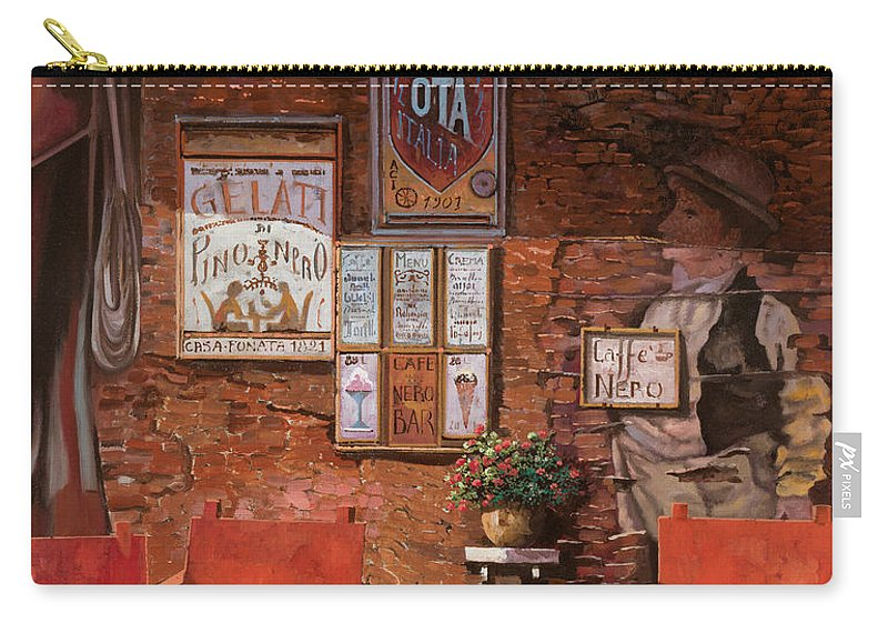 Caffe' Carry-all Pouch featuring the painting caffe Nero by Guido Borelli