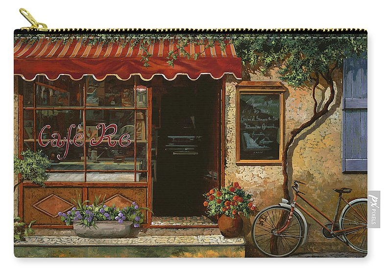 Caffe' Carry-all Pouch featuring the painting caffe Re by Guido Borelli