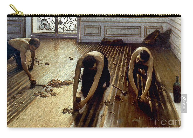 1875 Carry-all Pouch featuring the photograph Caillebotte: Planers, 1875 by Granger