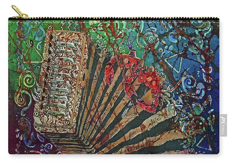 Cajun Carry-all Pouch featuring the painting Cajun Accordian by Sue Duda