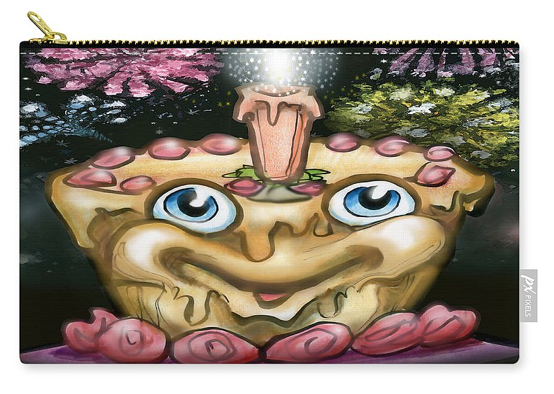 Celebration Carry-all Pouch featuring the greeting card Cake N Fireworks by Kevin Middleton